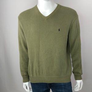 Polo Ralph Lauren Cotton Knit V-Neck Sweater